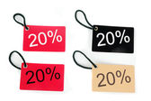Four types of twenty-five percent paper tag i — Stock Photo