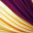 Beautiful decoration with purple and golden yellow color combination — Stock Photo