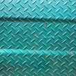 Royalty-Free Stock Photo: Patterns of old green iron wall