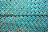 Mönster av gamla gröna järn vägg — Stockfoto
