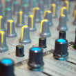 Details of control board sound mixer — Stock Photo #9928013