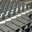 Details of the control board sound mixer — Foto Stock