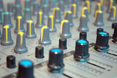 Details of the control board sound mixer — Stock Photo