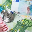 Royalty-Free Stock Photo: Stethoscope and euro money.
