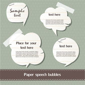 Paper speech bubbles — Stock Vector