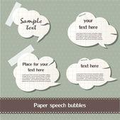 Paper speech bubbles — Stock Vector