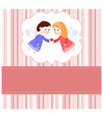 Valentine card — Stock Vector