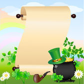 St. Patrick's scroll — Stock Vector
