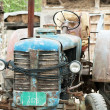 Stock Photo: Old blue tractor