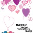 Royalty-Free Stock Vector Image: Valentine birds with hearts