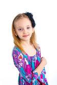 Młody model w kolorowy strój — Zdjęcie stockowe