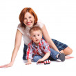 Mother and her son posing together — Stock Photo