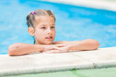 Pretty young girl at pool — Stock Photo