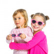 Two young beautiful girls in glasses — Stock Photo #10642337