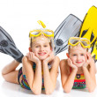 Diver girls — Stock Photo #10650934