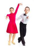 Young ballroom dancers — Stock Photo