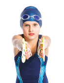 Young swimmer girl — Stock Photo