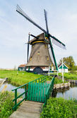 Dutch windmill. Netherlands — Stock Photo