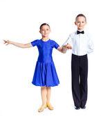 Bailarines de salón joven — Foto de Stock