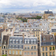 Panorama of of Paris, France with the Eiffel tower — Stock Photo