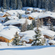 Stok fotoğraf: Cottages at AustriAlps of Tyrol region.
