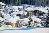 Cottages at the Austrian Alps of the Tyrol region. — Stock Photo