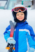 A photo of a Junior skier — Stock Photo