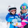 Happy skiers — Stock Photo #8832378