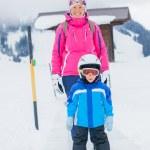 Happy skiers — Stock Photo #8868351