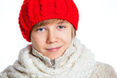 Boy in the red hat — Stock Photo