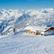 Skiing resort in Austria - Stock Photo