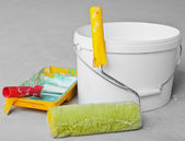 Home Improvement Paint Roller And Paint — Stock Photo