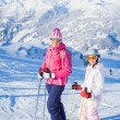 Happy skiers — Stock Photo #9028572