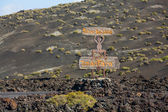 Timanfaya National Park in Lanzarote — Stock Photo