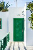Typical door. Lanzarote, Canary islands, Spain — Stock Photo
