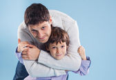 Portrait of the father and son — Stock Photo
