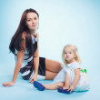 Portrait of the mother and daugther — Stock Photo #9103015