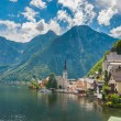 Beautiful summer Alpine Hallstatt Town - Stock Photo
