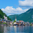 beautiful summer alpine hallstatt town — Stock Photo #9104659