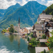 beautiful summer alpine hallstatt town — Stock Photo #9109525