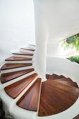 White Spiral Staircase — Stock Photo