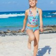 Adorable girl on the beach — Stock Photo #9129112
