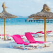 Royalty-Free Stock Photo: Chairs and umbrella on the beach