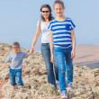 Royalty-Free Stock Photo: Family hiking in the cross-country