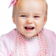 Portrait of an adorable baby girl — Stock Photo #9294315