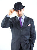 Portrait of a business man with hat — Stock Photo