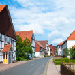Romantic half-timbered old houses. — Stock Photo