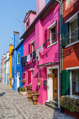 Colorful houses Burano. Italy — Stock Photo