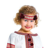 Little girl in Ukrainian national costume — Stock Photo