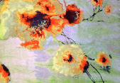 The orange flowers drawn by a watercolor — Stock Photo